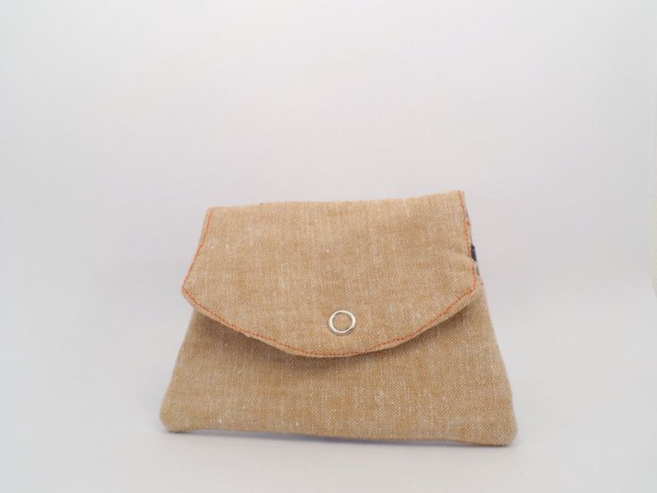 "Hidden message ""My aim is true"" linen and cotton wallet 