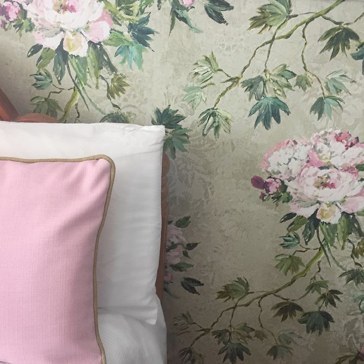 Delicate florals for the bedroom, with our Floreale wallpaper. Zoe Fretwell