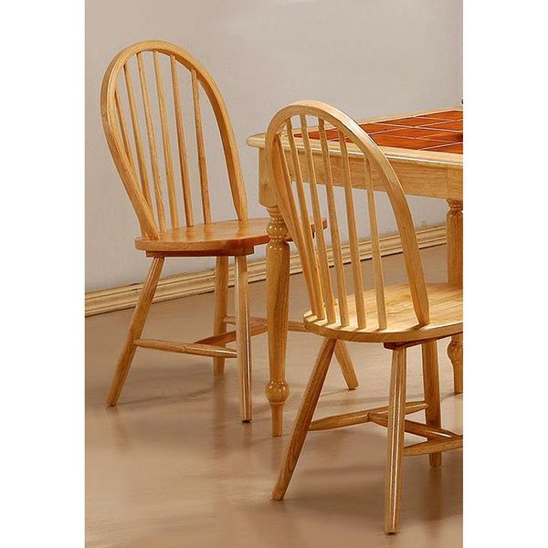 This Set Of Four Lainie Windsor Spindle Back Dining Chairs Adds Traditional Country Style To Your Room Or Kitchen Table The Sturdy Wood Have