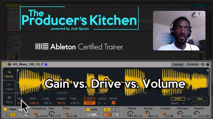 Really nice one from Spoon - ABLETON LIVE Simpler 9.5+: Gain vs. Drive vs. Volume. Creating tone.