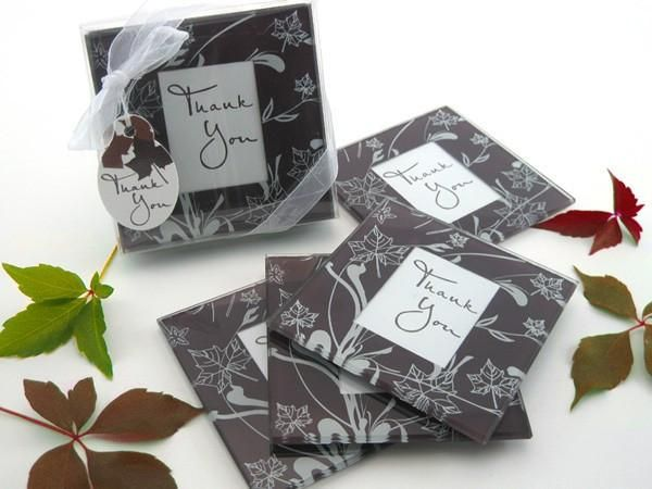 """Falling Leaves"" Leaf Photo Coasters (Set of 4)"