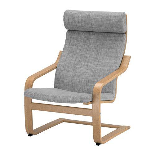 POÄNG Sessel IKEA Das Gestell aus schichtverleimter, formgebogener Eiche sorgt für sanftes Schwingen. Die hohe Rückenlehne stützt den Nackenbereich.