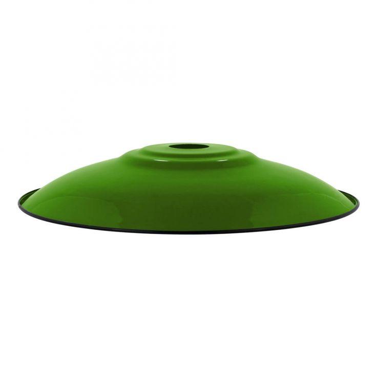 Enamel Lamp Shade Enamel Flat Lampshade Green