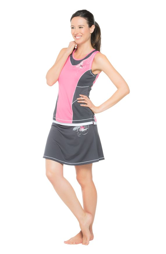 A sporty skort adds a feminine touch to your training