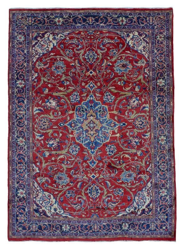 Semi Antique Persian Kashan Rug 7 10x10 10 Rugs Patterned Carpet Persian Carpet