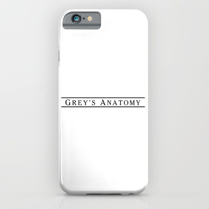 grey's anatomy logo / white iPhone & iPod Case from society 6