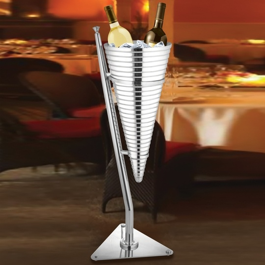 This Modern Champagne Bucket Stand Seems Straight Out Of