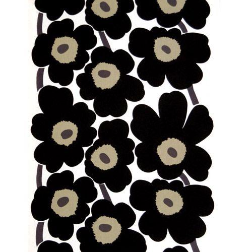 Marimekko Black Unikko Long Tablecloth  $125.00
