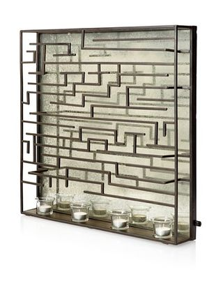 49% OFF Mercana Cladde II Mirror/Candle Holder, Black/Brown