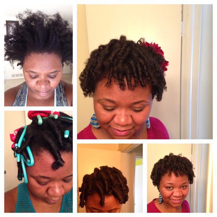 Flexi  rod set on 4C natural hair.