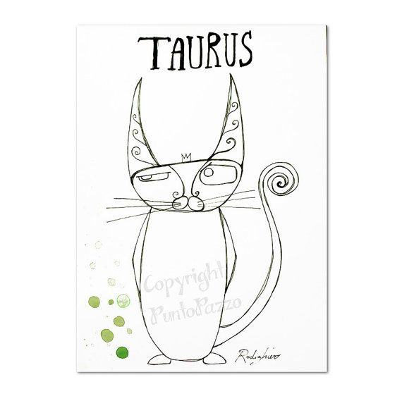 TAURUS Ascendant Cat. Sternzeichen Stier, Aszendent Katze.