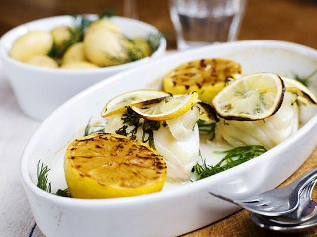 Ugnsbakad torsk med citron och mynta (kock Malin Söderström)