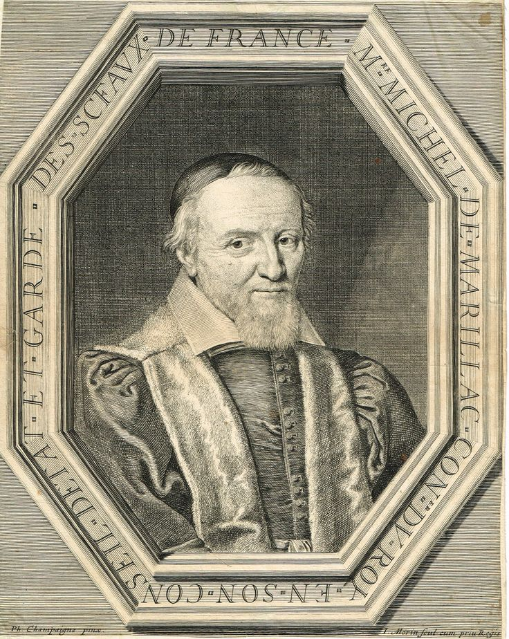 Michel de Marillac (1560-1632) gravé par Jean Morin d'après Philippe de Champaigne - RD n°66