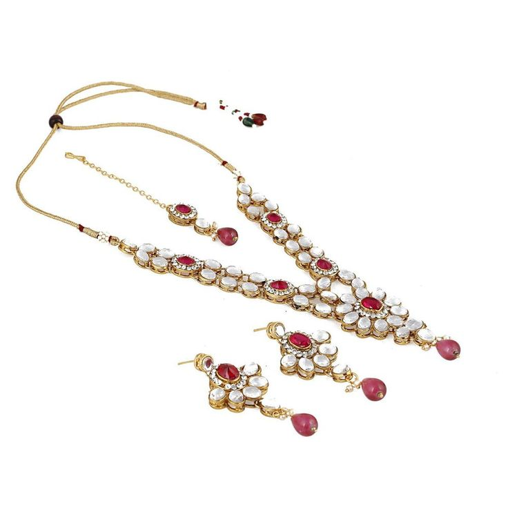 Indian Gold Plated Stones Kundan Necklace Earrings Party: 39 Best Party Wear Women Bollywood Necklace Jewelry Set