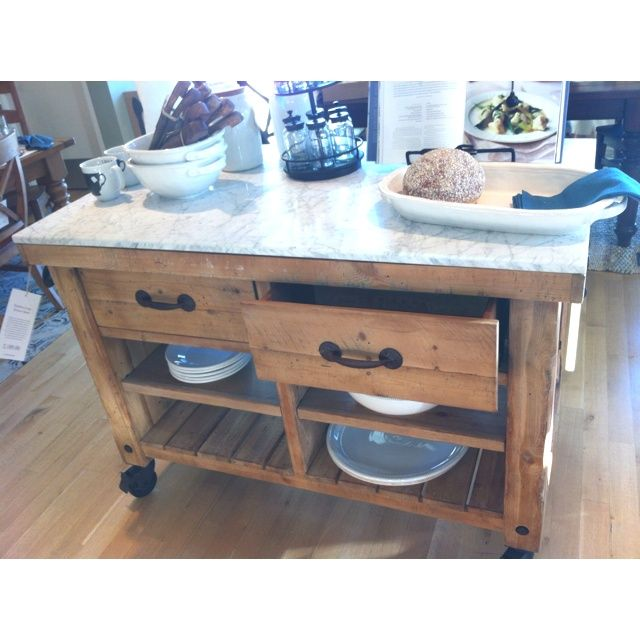 Pottery Barn Hamilton Kitchen Island Table   Google Search