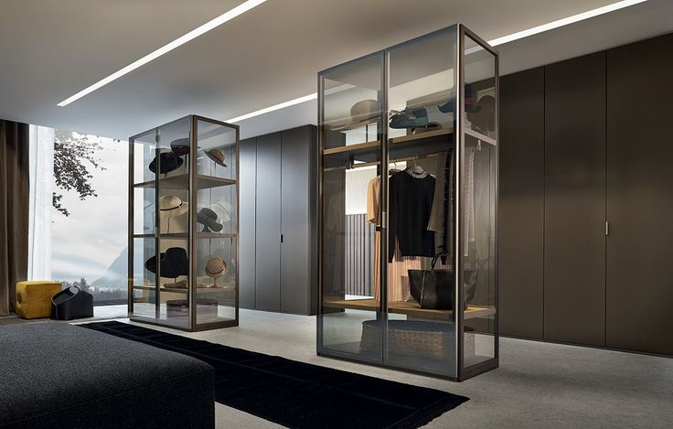 Sectional lacquered glass wardrobe FITTED   Lacquered wardrobe - Poliform - design by Rodolfo Dordoni
