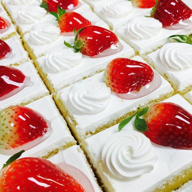 Strawberry shortcake!!! #strawberries #cake #realcream #realfood #instagood #dessert #greekbakery #papevillage #eastyork #seranobakery #Torontobakery