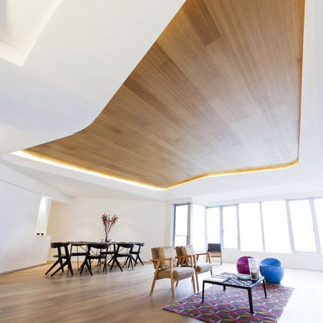 Timber ceiling by Davidclovers, Hong Kong.