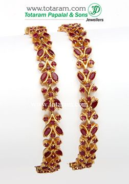 Totaram Jewelers: Buy 22 karat Gold jewelry & Diamond jewellery from India: Rubies & Emerald Bangles