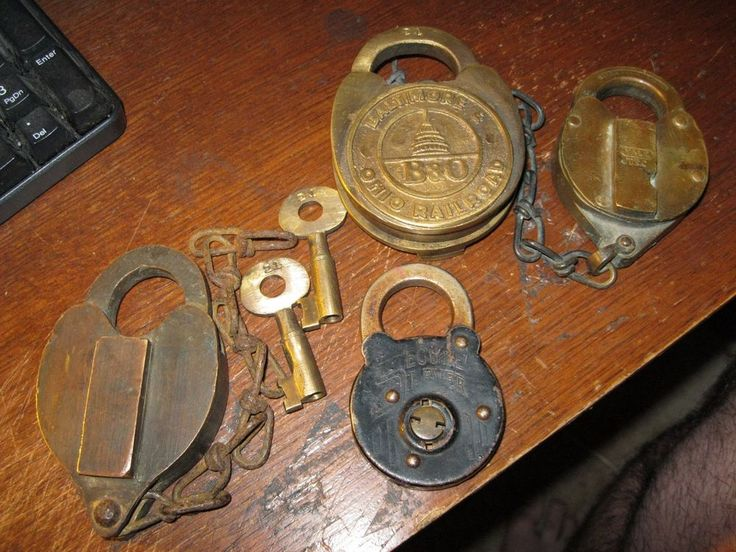 4 ANTIQUE & VINTAGE PADLOCKS - B&O, YALE & TOWNE, SECURE LEVER | Collectibles, Tools, Hardware & Locks, Locks, Keys | eBay!