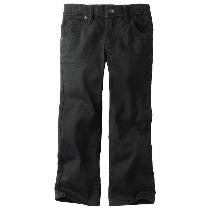 Boys 4-7x Lee Dungarees Black Skinny Jeans, Size: medium (7)