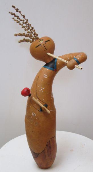 kokopelli gourd figure