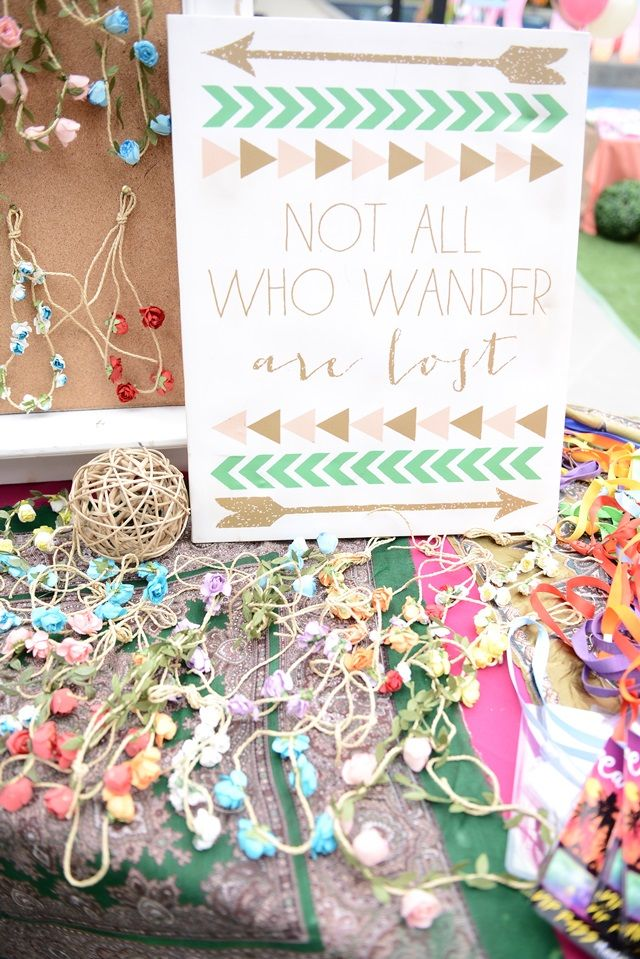 Caitlin's Coachella Themed Party – Accessories Station / Entrance