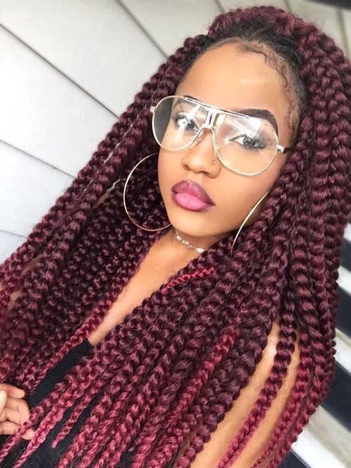 fc904395624f1b5985d096f30fa12c8d Image Result For Two Color Box Braids