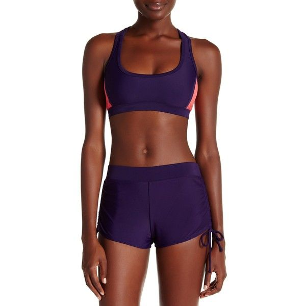 Champion Racerback Sports Bra (300 MXN) ❤ liked on Polyvore featuring activewear, sports bras, champion sports bras, champion sportswear, purple sports bra, champion activewear and racer back sports bra