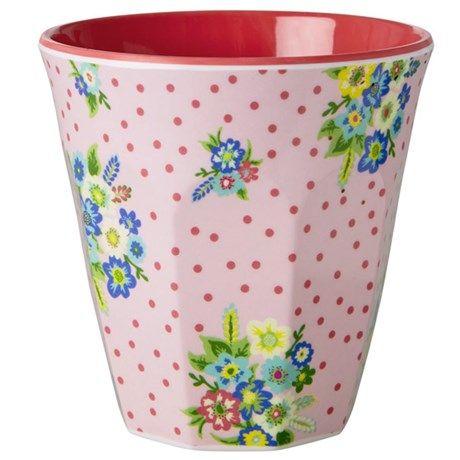 Rice – Krus med mønster, Rosa med blomsterbukett