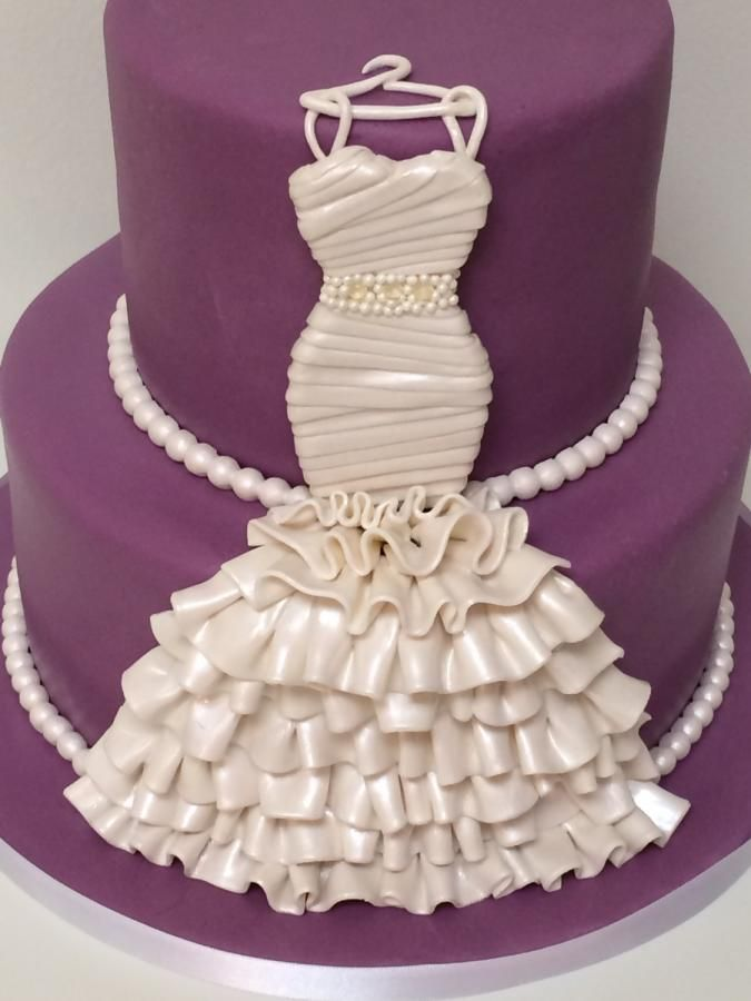 Bridal Gown Cake For A Wedding Shower In Her Colors