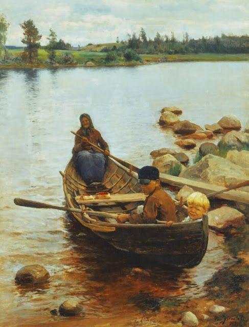 Eero Järnefelt (1863-1937) Savolaisvene / Savo boat - Finland