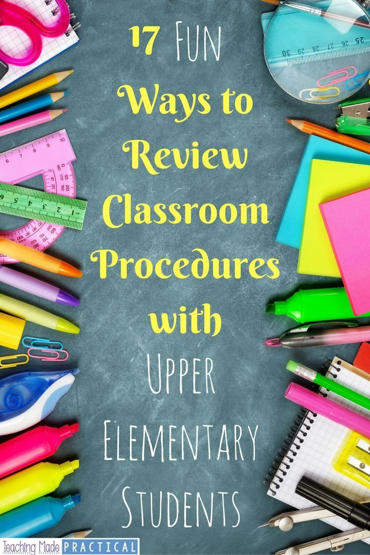 Includes a free printable!  Practicing procedures over and over again at the beginning of the school year can get a little boring.  Here are 17 different ways to review procedures with your 3rd grade, 4th grade, or 5th grade class!
