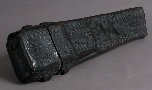 Knife Case Date: 15th–16th century Culture: Austrian Medium: Leather (Cuir bouilli) Dimensions: Overall: 20 1/16 x 6 x 3 7/8 in. (50.9 x 15.2 x 9.9 cm)