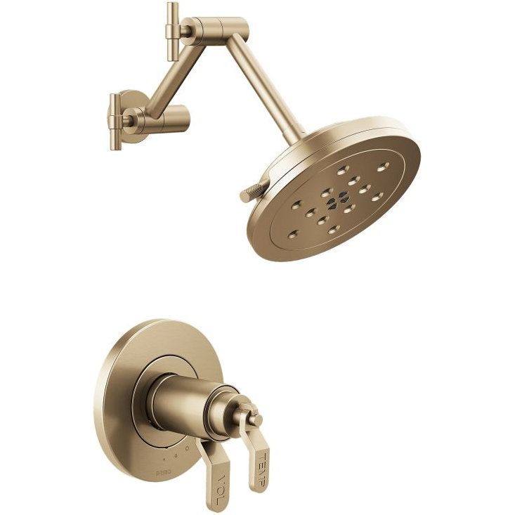 brizo t60235gllhp litze luxe gold shower heads tub u0026 shower accessories efaucets