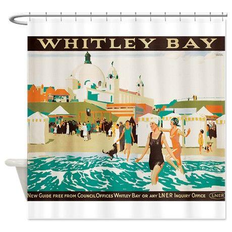 Whitley Bay, England, Travel, Vintage Poster Showe on CafePress.com