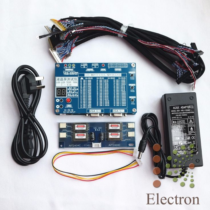 Panel Tester,LED LCD Screen Tester Tool For TV Laptop Repair With Built-in 55 Kinds of Lvds Screen Resolutions Support 7-84