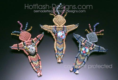 Hot Flash Designs by Bernadette - Beadwoman Brooch