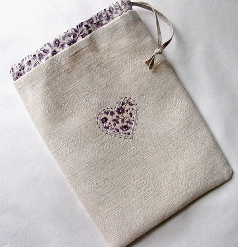 A Linen and Lavender Bag by petits détails, via Flickr