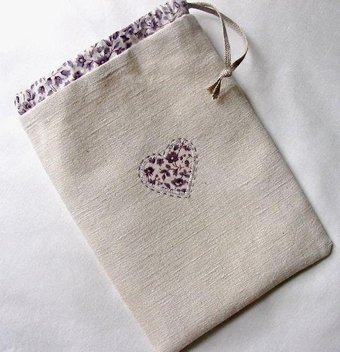 A Linen and Lavender Bag by petits détails, via Flickr