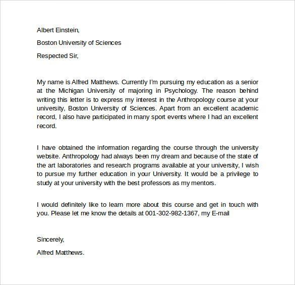 Sample Letter Of Intent For Graduate School Nel 2020