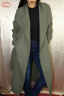 Boohoo Kate Belted Shawl Collar Coat - One Size Khaki http://arzan11fashion.blogspot.ca/2017/01/winter-boohoo-try-on-haul-2017.html