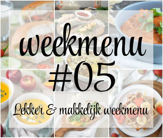 Lekker en makkelijk weekmenu – week 5, met deze week heerlijke wraps met mango en kip, een Indiase curry, een budgetproof preischotel en een uitgebreid ontbijt op zondag. Met welke recepten ga jij de komende week aan de slag?