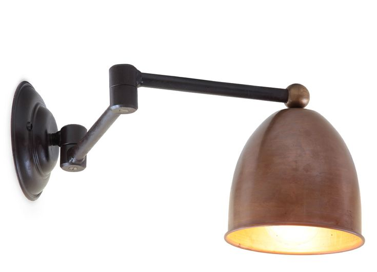 livorna wandleuchte am gelenkarm mit kupferschirm die. Black Bedroom Furniture Sets. Home Design Ideas