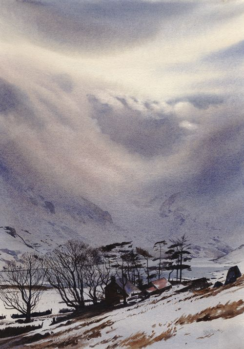 Drama over the Ogwen, an original watercolour painting by Rob Piercy