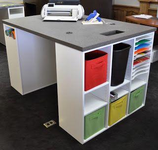 Idée de bureau - Craft table idea #01 - Blog Tidy Scraproom