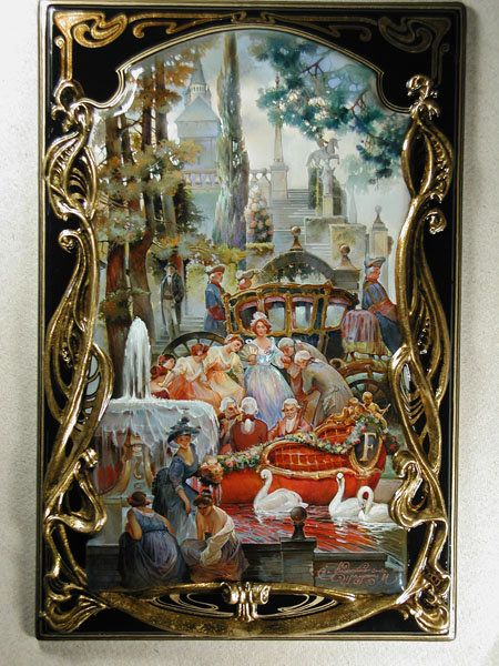 Lacquer art from Fedoskino. Michail Shelukhin. Cinderella.