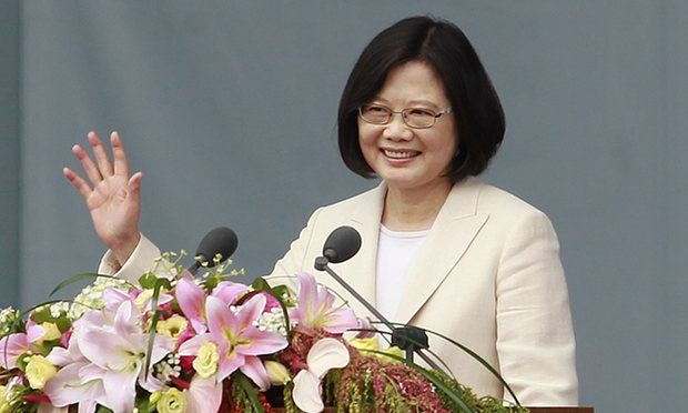 Taiwan's first female leader, Tsai Ing-wen.  Also single and childless.    https://www.theguardian.com/world/2016/may/25/chinese-news-agency-taiwan-leader-radical-single-tsai-ing-wen