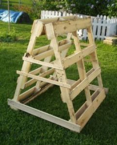 Would be cute to put strawberries in all the holes on the pallet...kind of like a strawberry tower!
