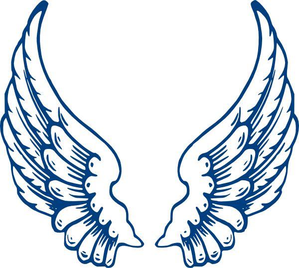 Bbb Angel Wings clip art - vector clip art online, royalty free ...